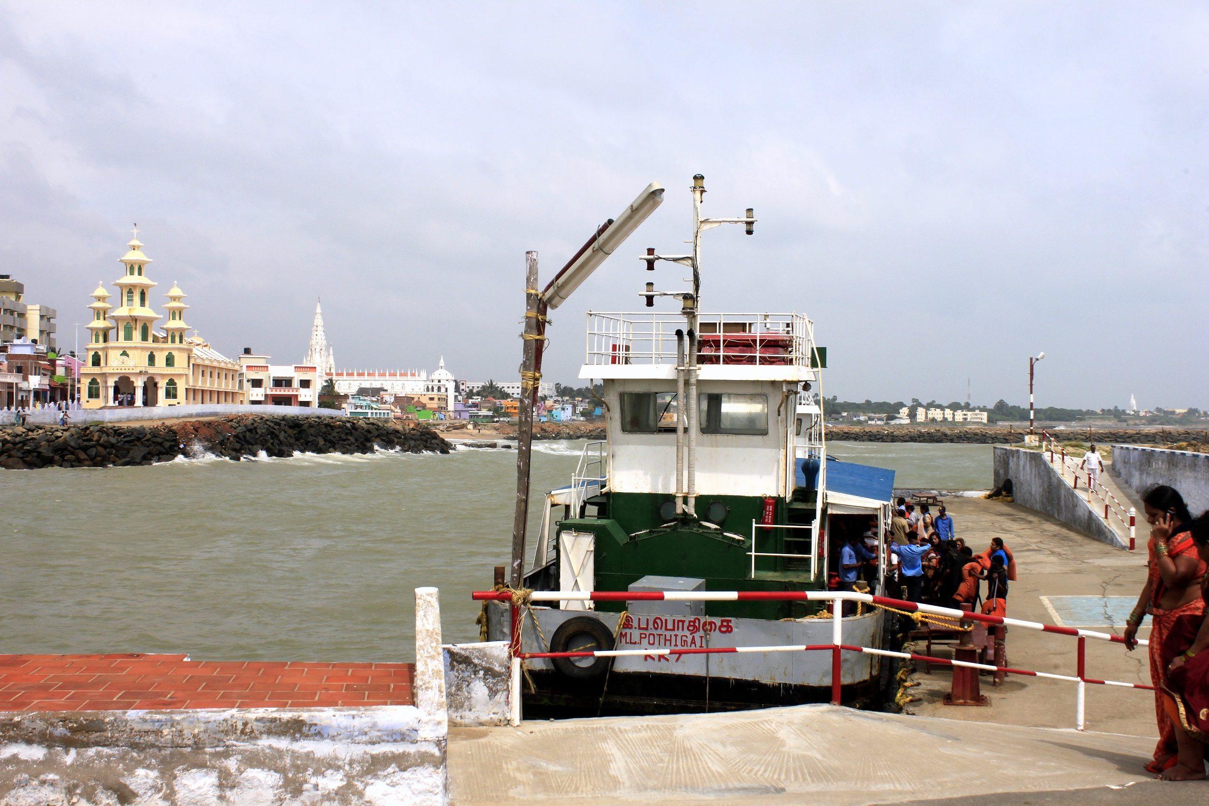 Kanyakumari ferry point