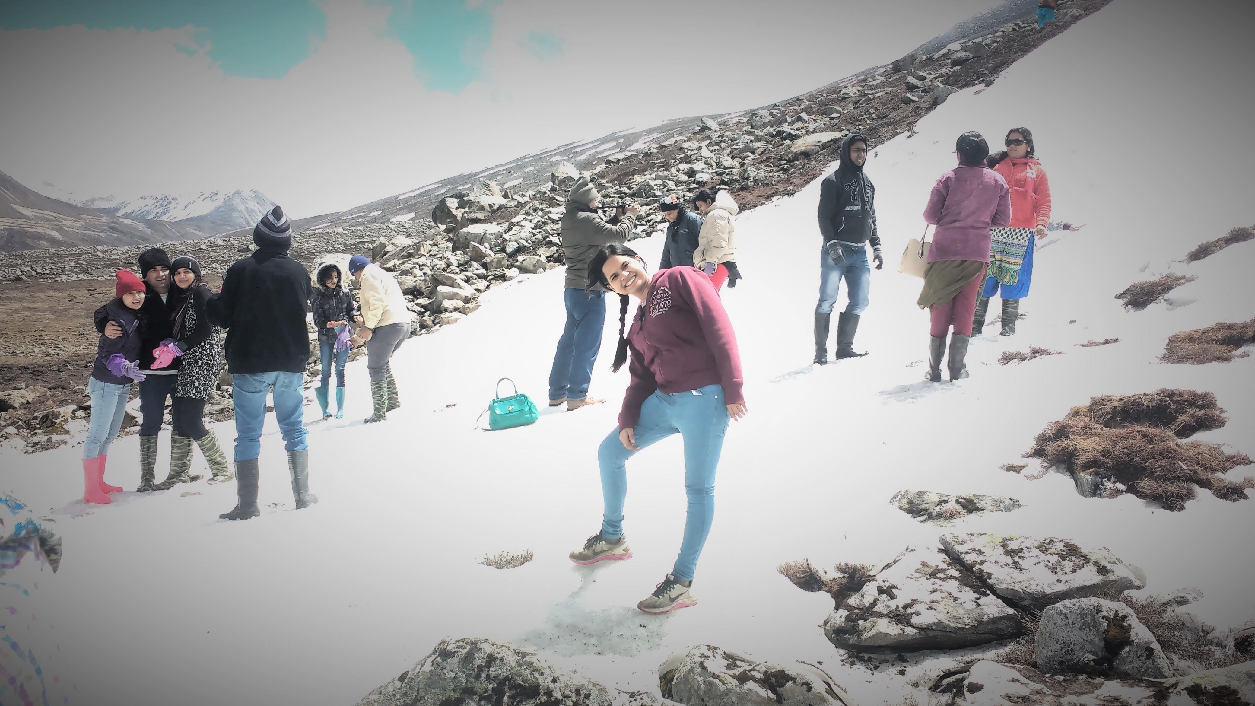 At zero point Sikkim