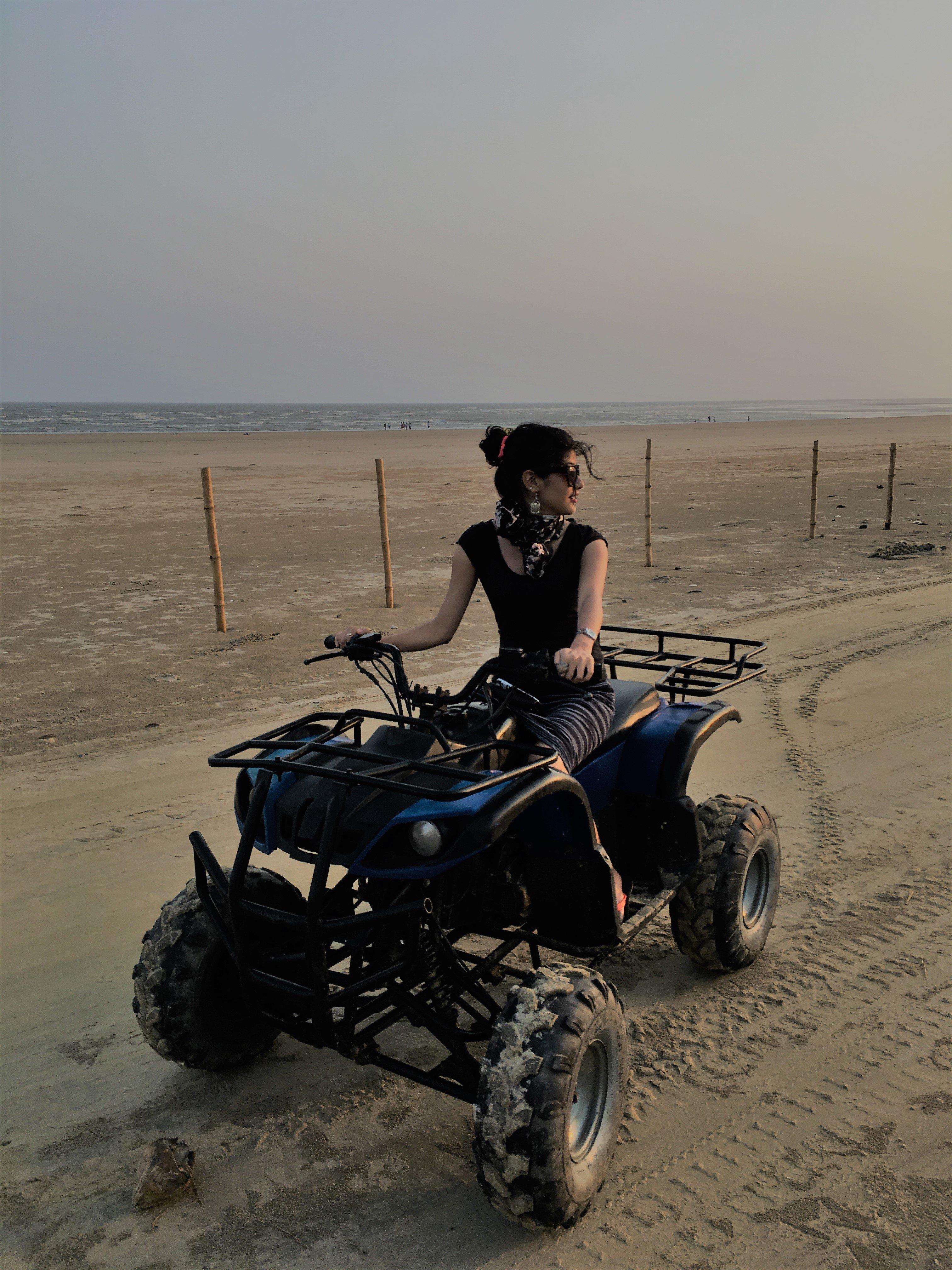 Mandarmani, India, Resort Village, West Bengal, atv ride