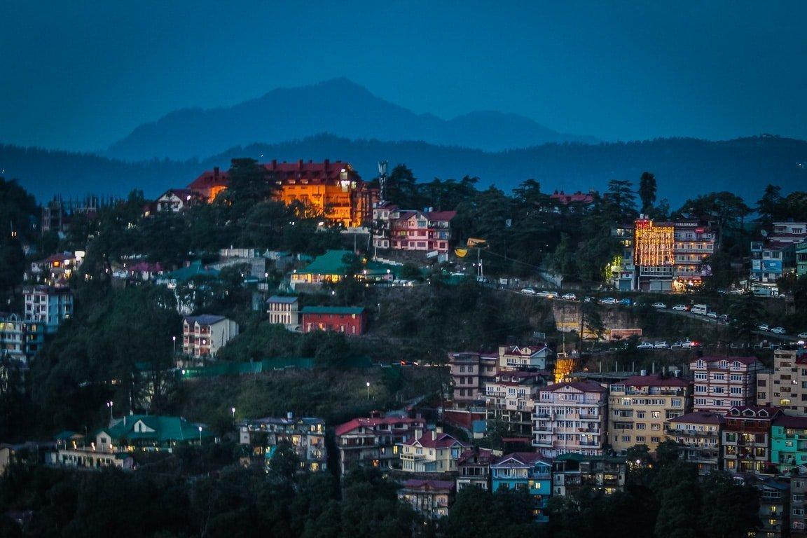 Shimla at evening