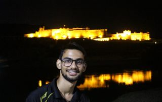Night View of Amer Fort