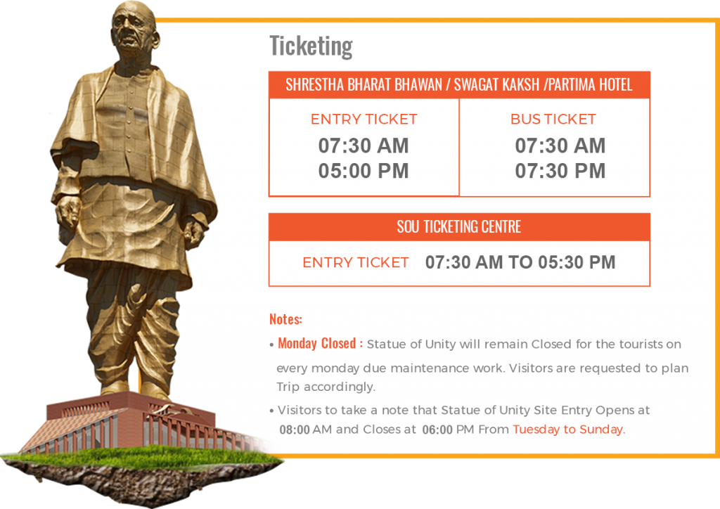 Statue of Unity Ticket