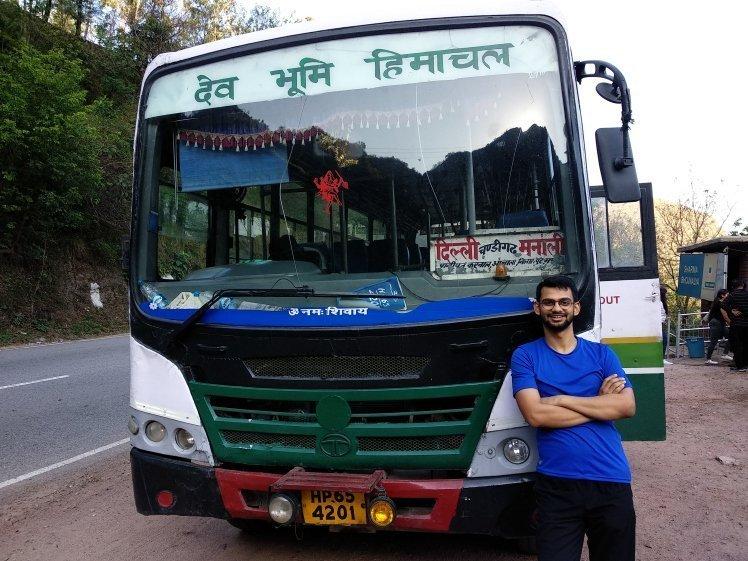 Delhi-Manali-Bus