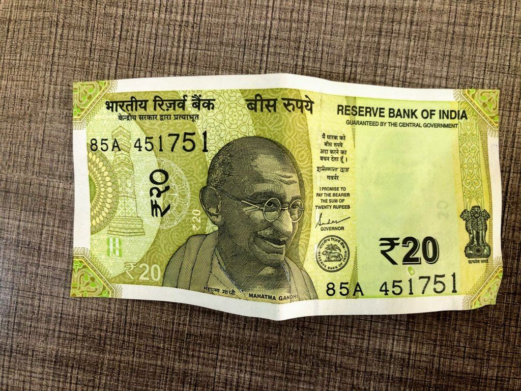 20 rs New Note Front View