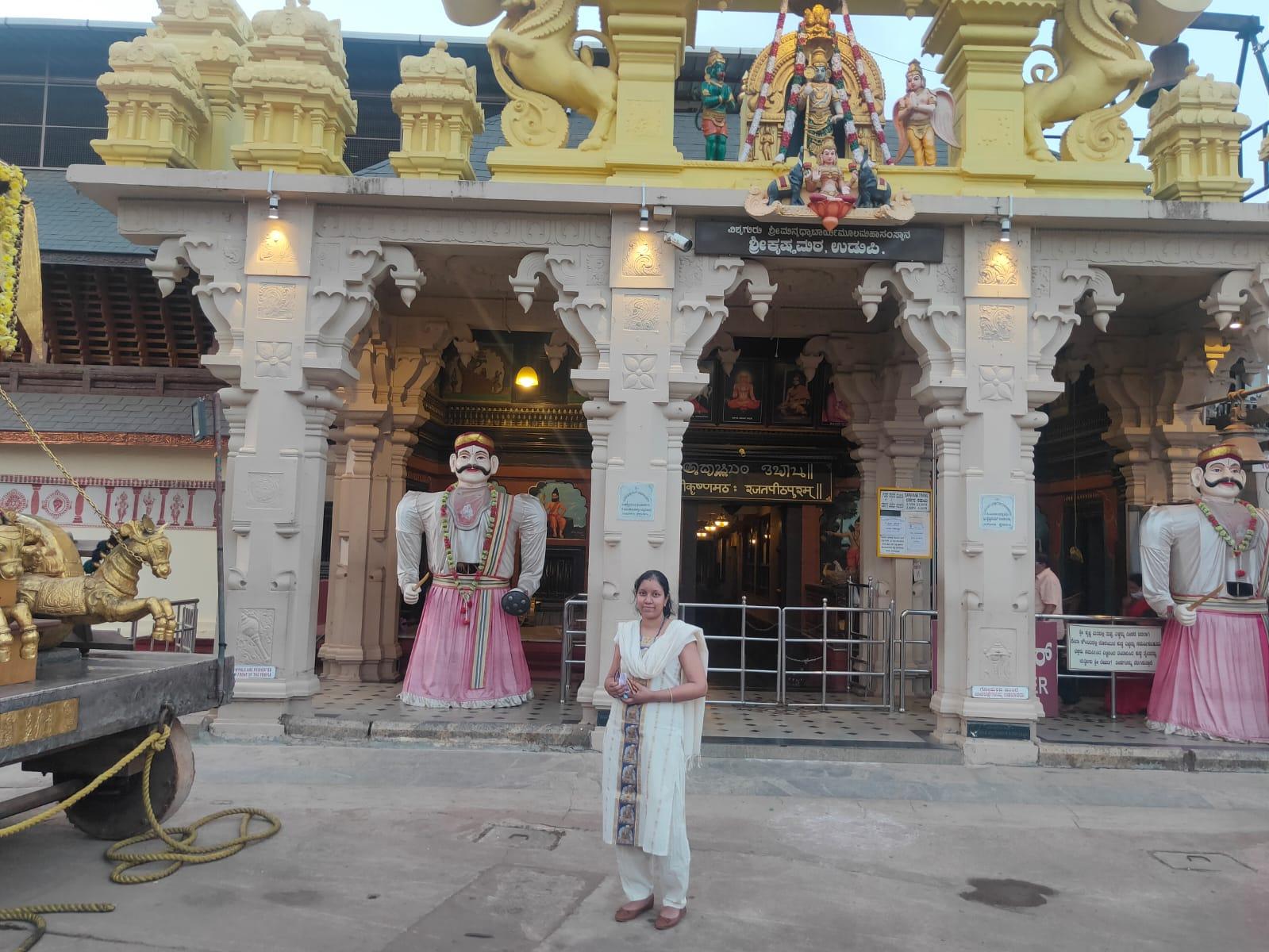 at the Entrance of the Udupi Krishna Temple