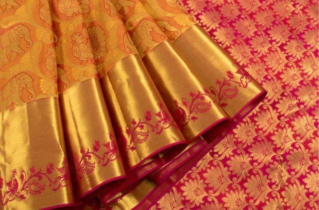 Temple town Kanchipuram Silk @ Pinterest